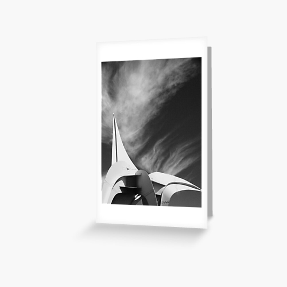 White Fire Greeting Card