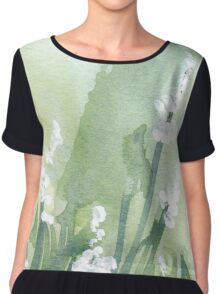 A gallery of White flowers  Chiffon Top