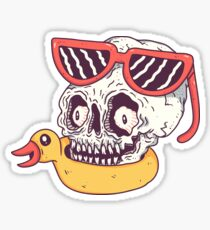 Beach Skull Sticker