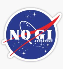 No Gi Jiu Jitsu Grapplenaut Sticker