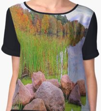 Rib Lake,Wisconsin U.S.A. Women's Chiffon Top
