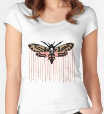 Death's-head hawkmoth Women's Fitted Scoop T-Shirt