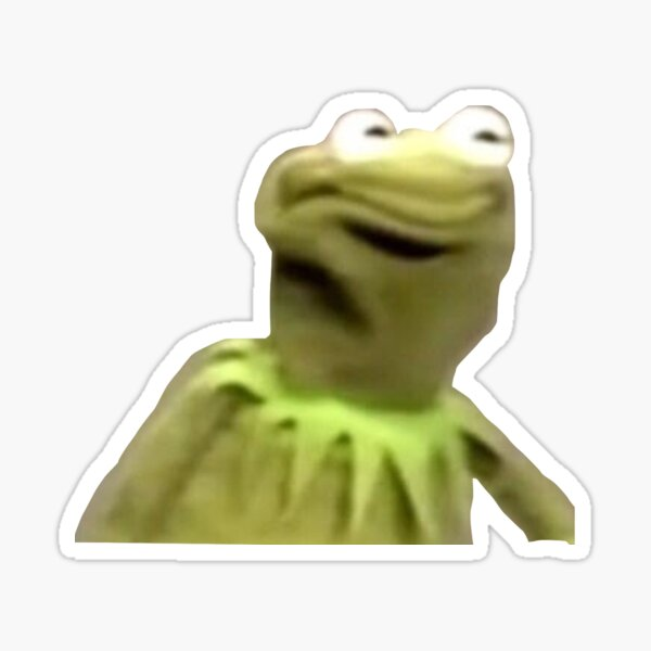 Kermit The Frog The Face Sticker