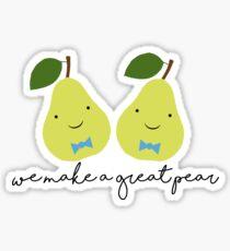 We Make a Great Pear (Boy x Boy) Sticker