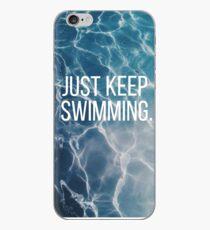Bleib einfach schwimmen iPhone-Hülle & Cover