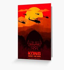 kong skull island Greeting Card
