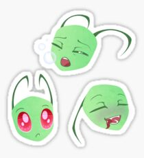 Little Alien Heads Sticker