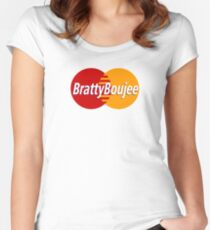 Bratty Boujee Women's Fitted Scoop T-Shirt
