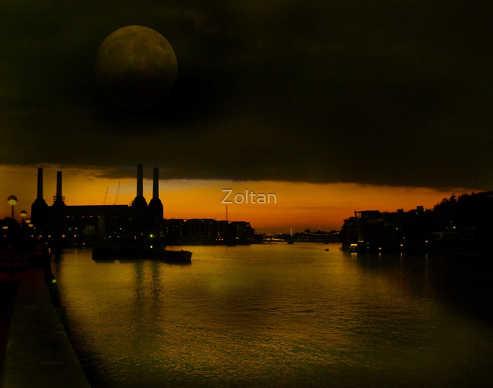 Battersea Power Station - London at night by Zoltan