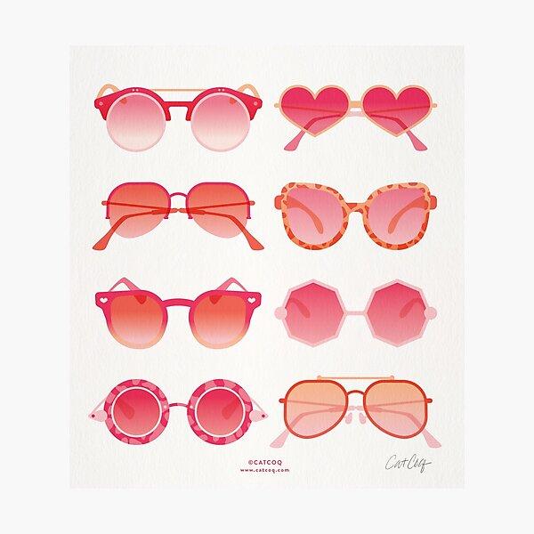 Sunglasses Collection – Pink Ombré Palette Photographic Print