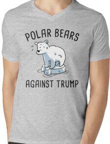 polar bears against trump Mens V-Neck T-Shirt
