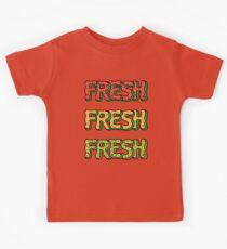 Fresh Watermelon, Cantaloupe Melon, Kiwi Kids Tee