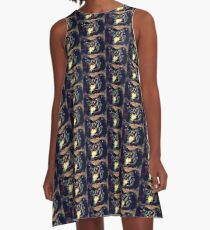 Gather round the light A-Line Dress