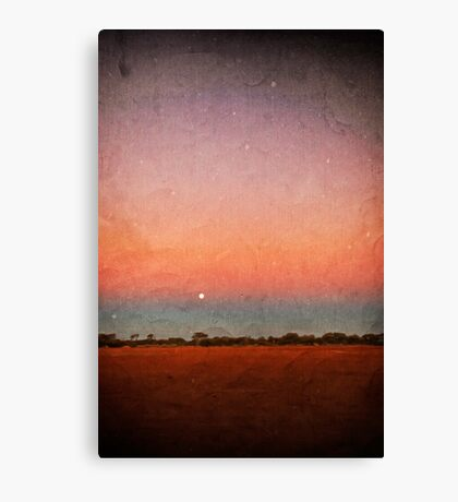Moon over red earth Canvas Print