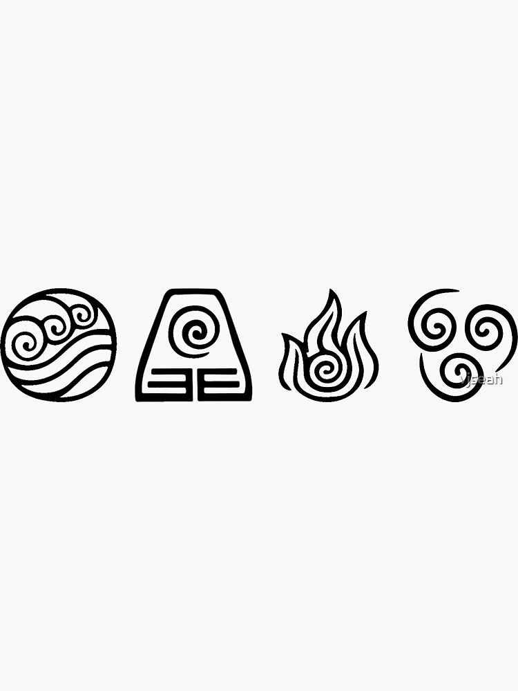 Avatar Elements Black and White by vjseah