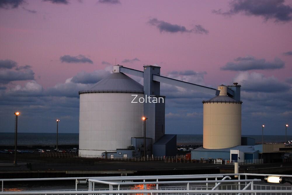 Silos of The Port of Calais by Zoltan