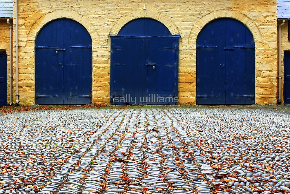 Cobbled stableyard by sally williams