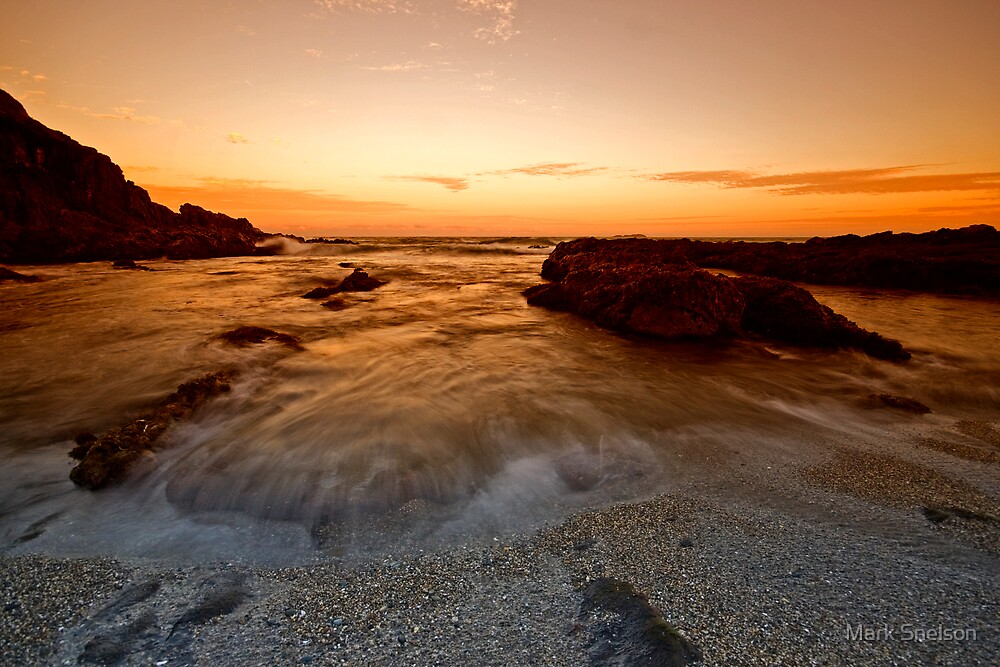 Serenity Beach at Dusk 8 by Mark Snelson
