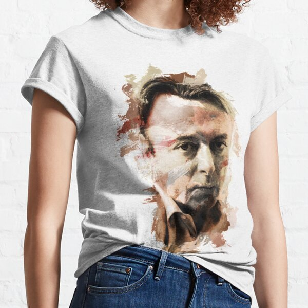 "Paint-Stroked Portrait of Activist, Christopher ""Hitch"" Hitchens Classic T-Shirt"