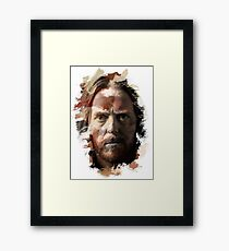 Paint-Stroked Portrait of Musician and Comedian, Tim Minchin Framed Print