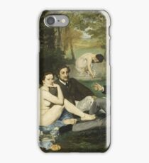 Edouard Manet - Luncheon On The Grass (1863) iPhone Case/Skin