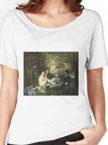 Edouard Manet - Luncheon On The Grass (1863) Women's Relaxed Fit T-Shirt