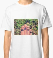 Cute fingers with cameras. Classic T-Shirt