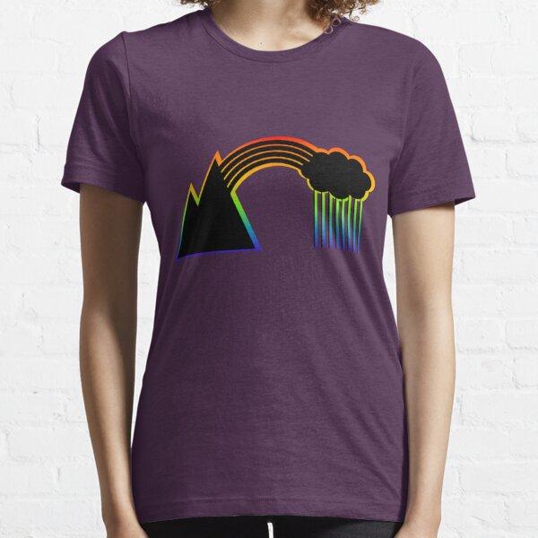 Black Rainbow (with colour shadow) Essential T-Shirt