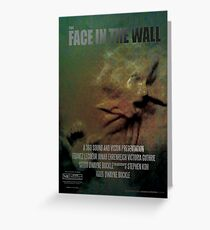 The Face In The Wall by 360 Sound and Vision Greeting Card