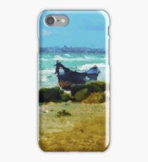 Old boat on the Black Sea iPhone Case/Skin