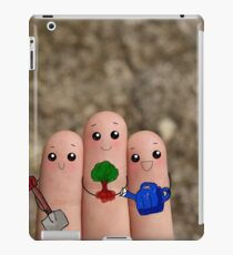 Cute fingers love earth. iPad Case/Skin
