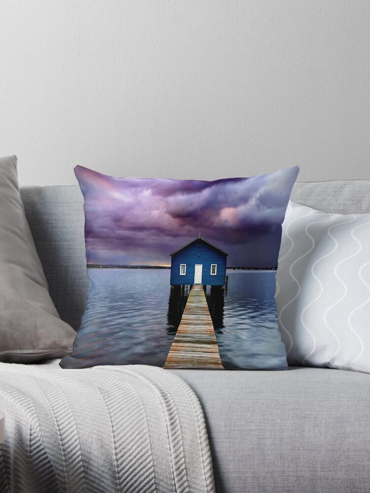 Blue Boathouse 2 by Annette Blattman