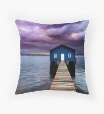 Blue Boathouse 2 Throw Pillow