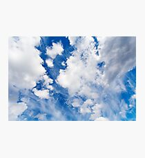 High sky with clouds, cloudscape Photographic Print