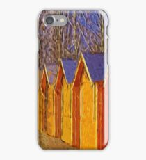 Wooden houses iPhone Case/Skin