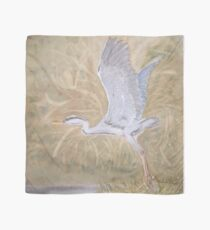 Blue Heron in Wetlands Scarf