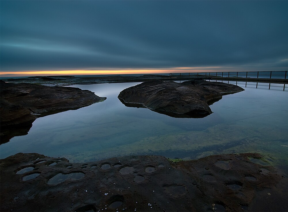 North Curl Curl Rock Pool before dawn by Brent Pearson