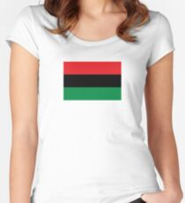 Pan-African Flag  Women's Fitted Scoop T-Shirt