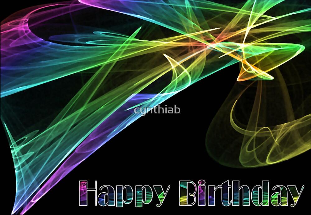 happy birthday card by cynthiab