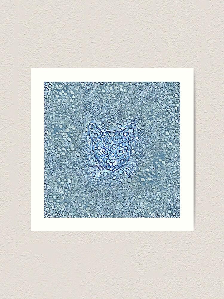 Alternate view of Maritime droplets cat Art Print