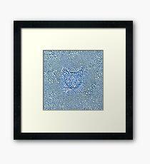Maritime droplets cat Framed Print