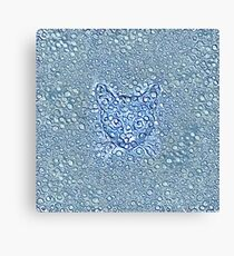 Maritime droplets cat Canvas Print