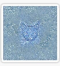 Maritime droplets cat Sticker