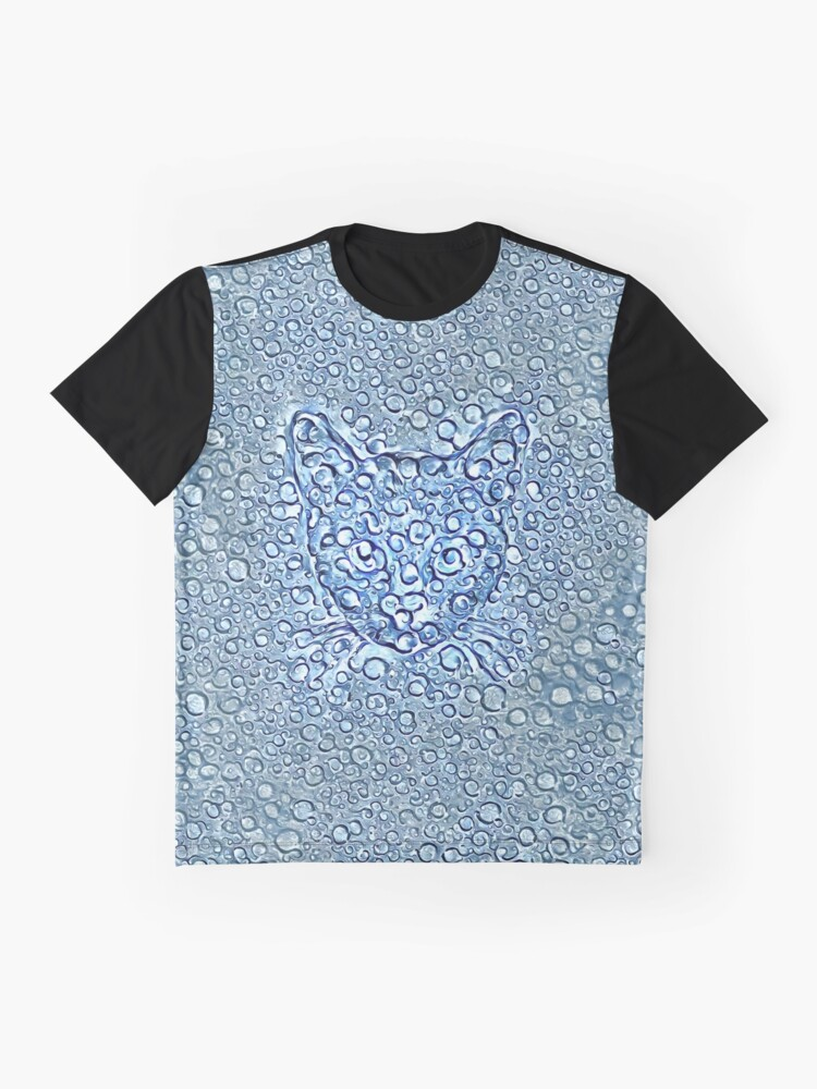 Alternate view of Maritime droplets cat Graphic T-Shirt
