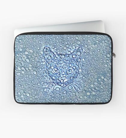 Maritime droplets cat Laptop Sleeve