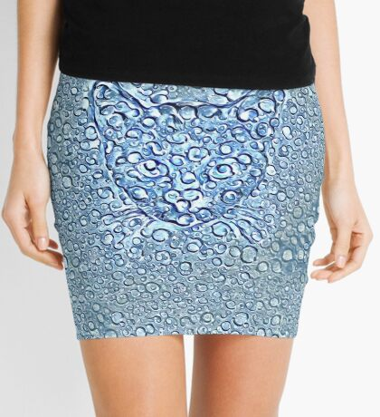 Maritime droplets cat Mini Skirt
