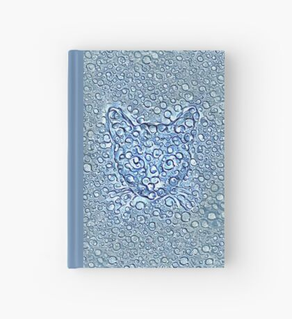 Maritime droplets cat Hardcover Journal