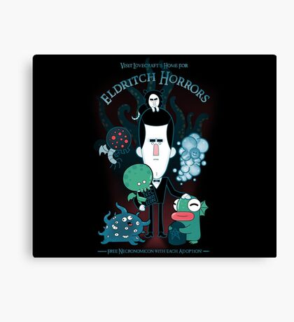 Lovecraft's Home For Eldritch Horrors Canvas Print