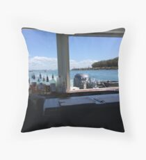 Alcoholic Beverage Boat Throw Pillow
