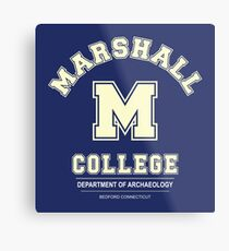 Indiana Jones - Marshall College Archaeology Department Metal Print